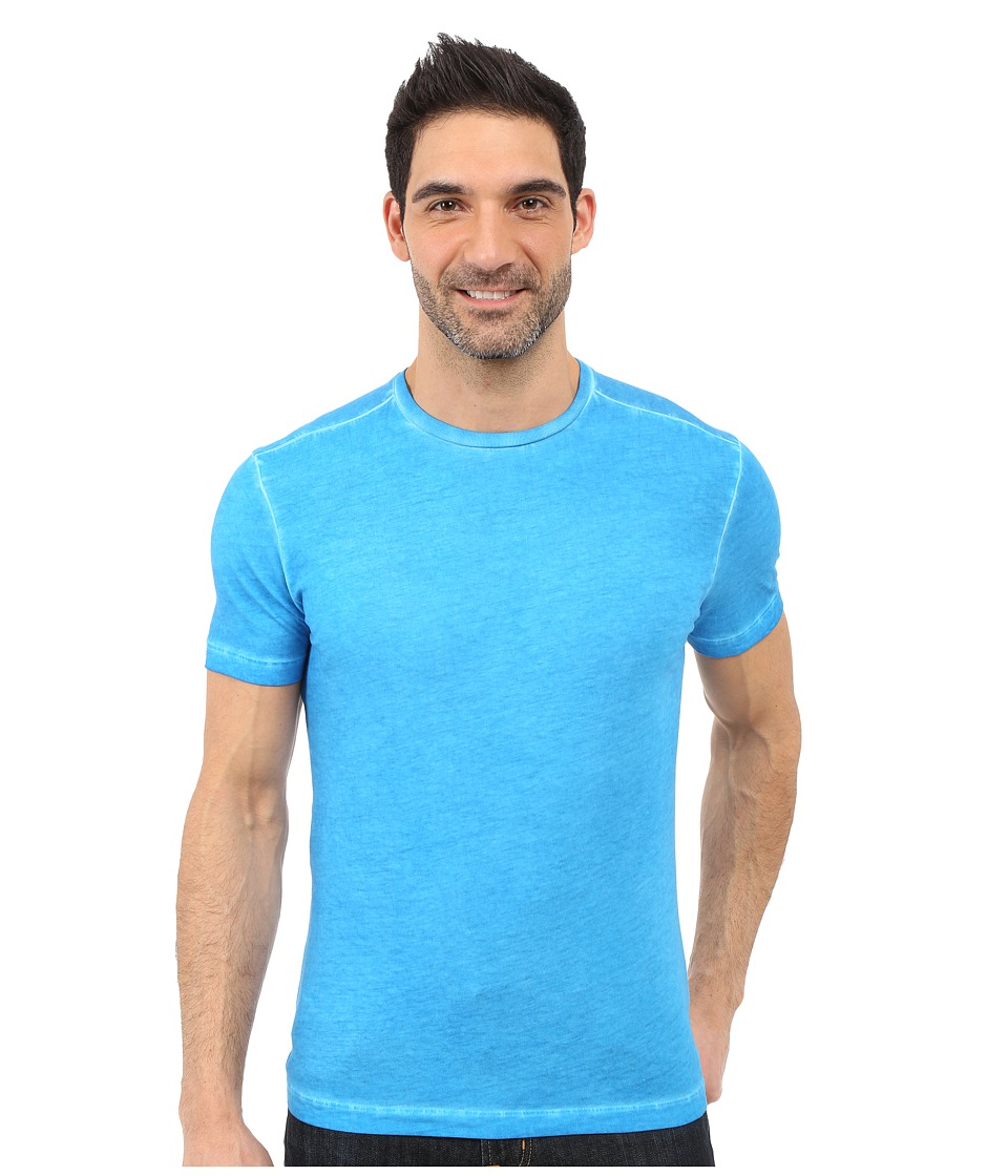 Agave Denim Jocko Short Sleeve Crew Neck Antique Mediterranean Blue Mens Short Sleeve Pullover