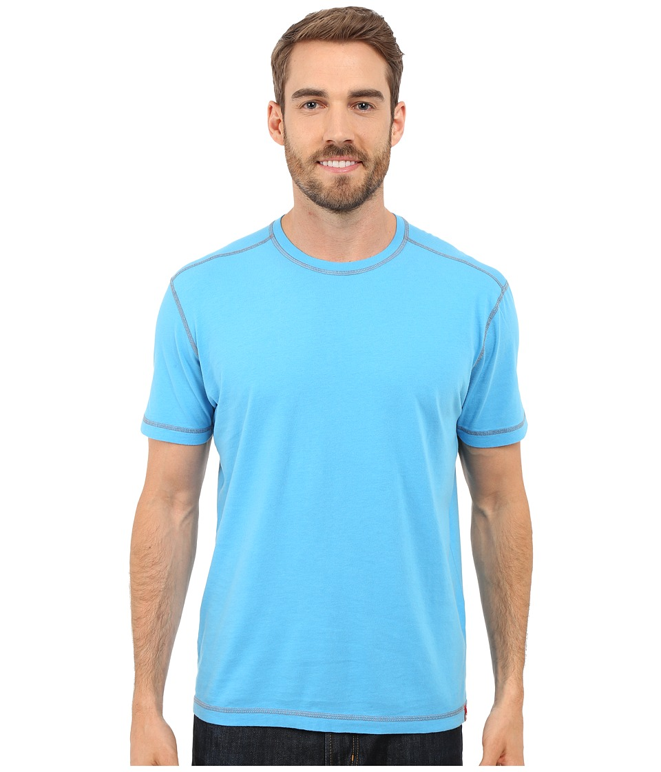 Agave Denim Whiskey Short Sleeve Crew Mediterranean Blue Mens Clothing