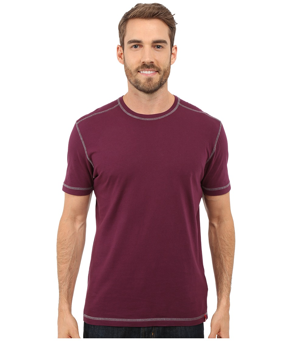 Agave Denim Whiskey Short Sleeve Crew Prune Purple Mens Clothing