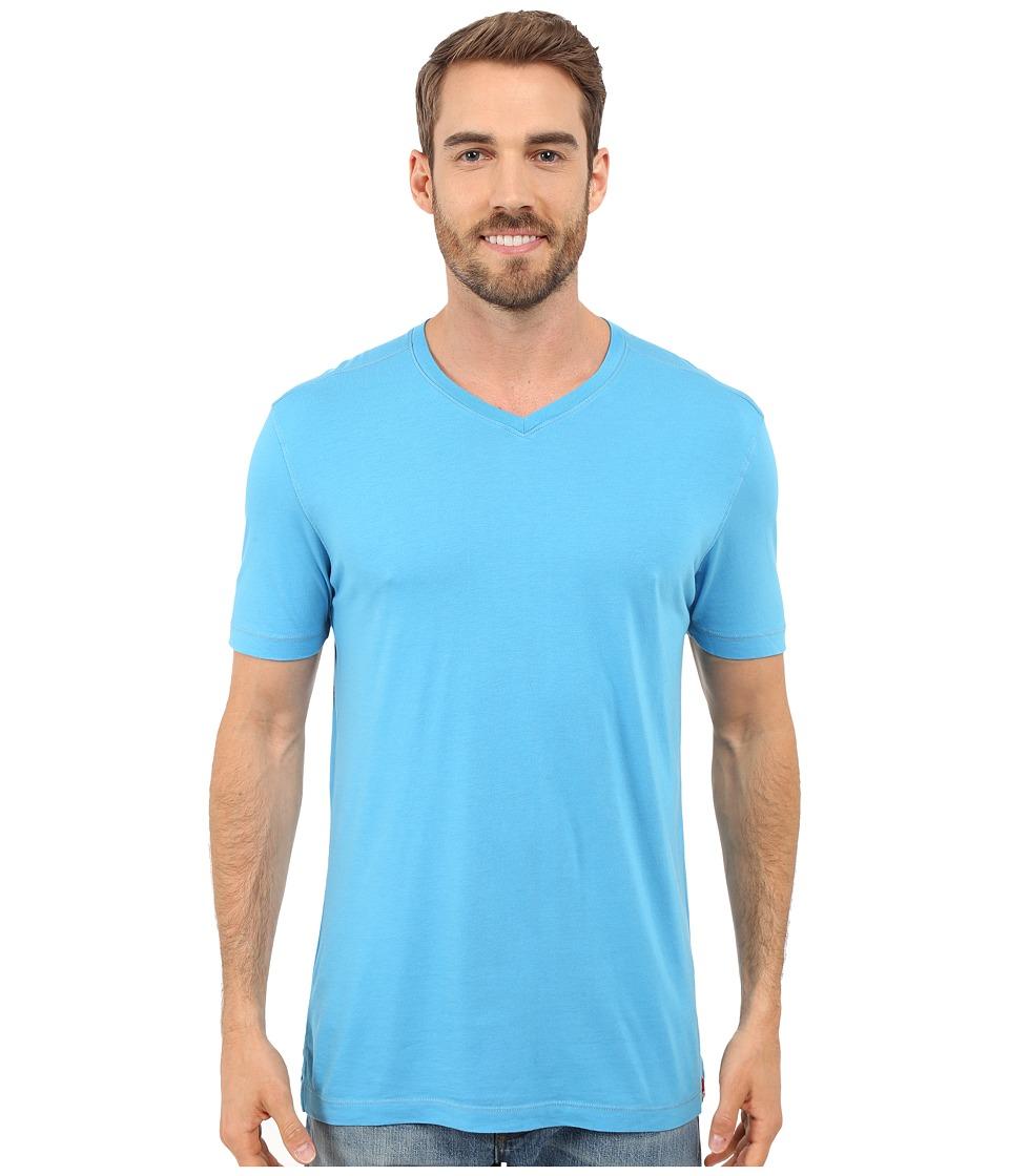 Agave Denim Prosser Supima V Neck Mediterranean Blue Mens Clothing