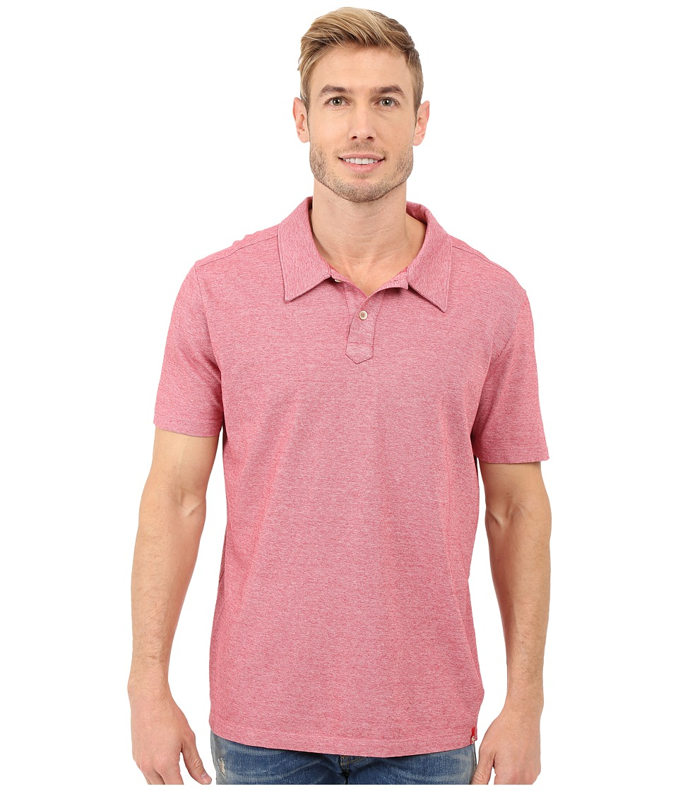 Agave Denim Hoh Italian Short Sleeve Polo Berry Mens Clothing