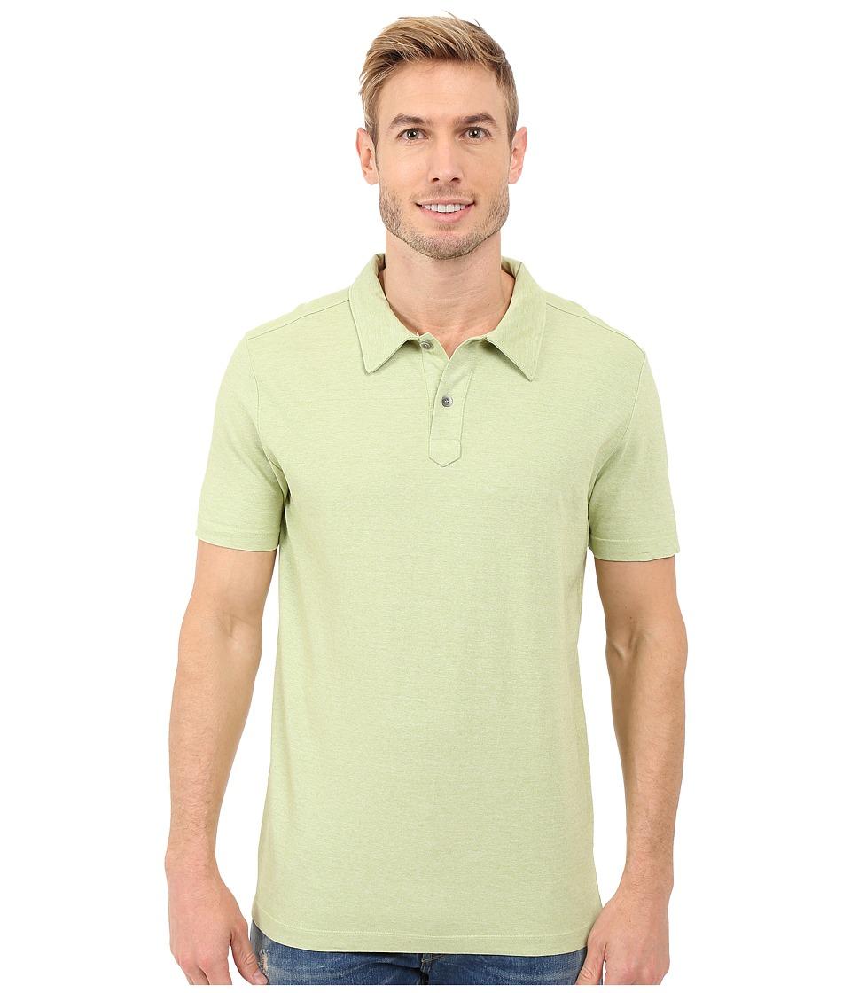 Agave Denim Hoh Italian Short Sleeve Polo Lime Mens Clothing