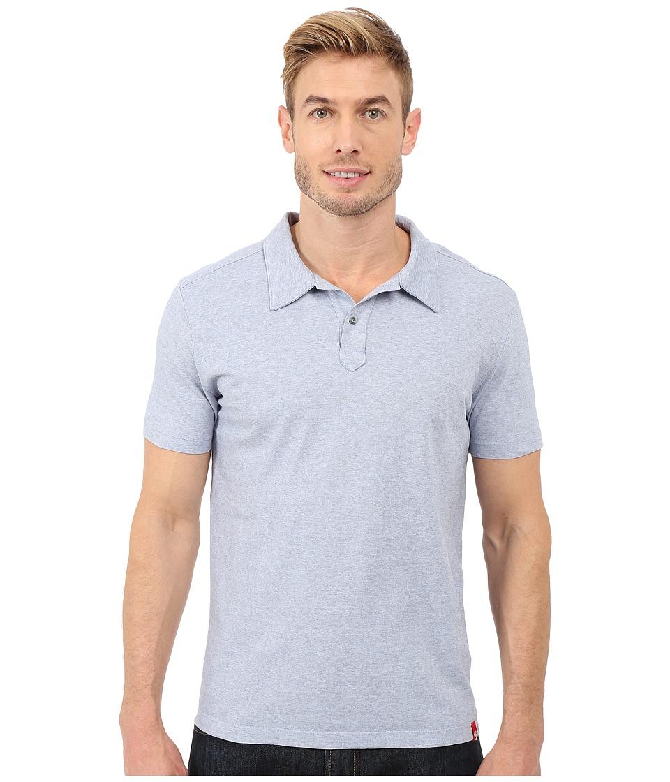 Agave Denim Hoh Italian Short Sleeve Polo Light Blue Mens Clothing