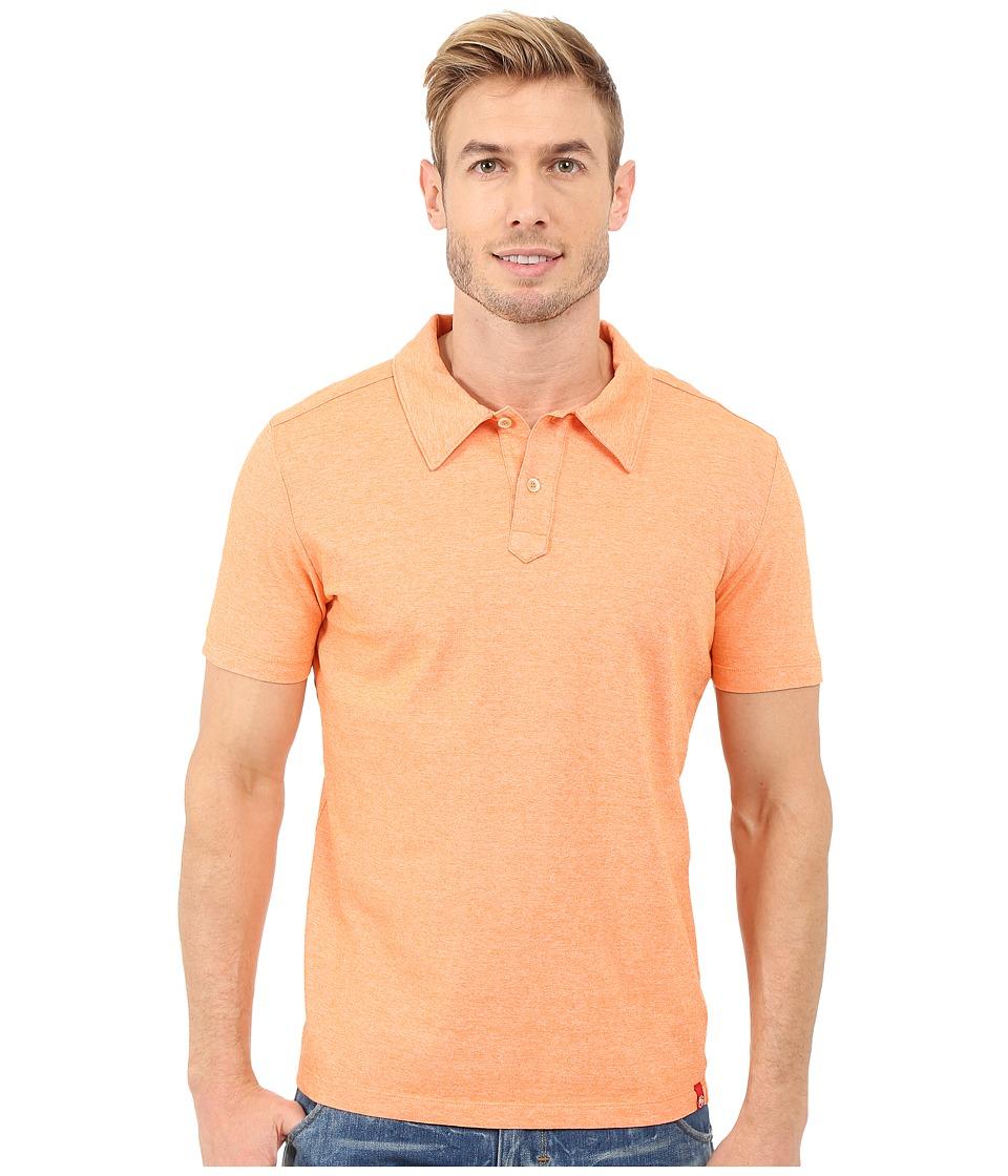 Agave Denim Hoh Italian Short Sleeve Polo Orange Mens Clothing