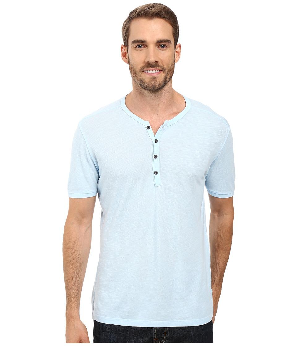 Agave Denim - Novo Short Sleeve Henley (Cool Blue) Men