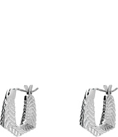 Cole Haan - Etched Basket Weave Huggie Earrings