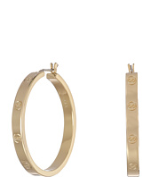 Cole Haan - Logo Rivet Large Hoop Earrings