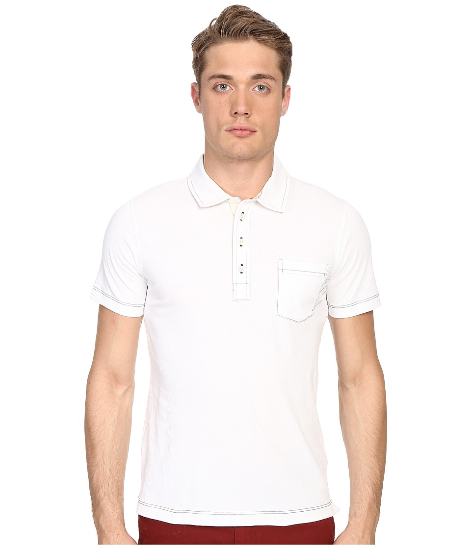 Billy Reid - Pensacola Polo (White) Mens Clothing