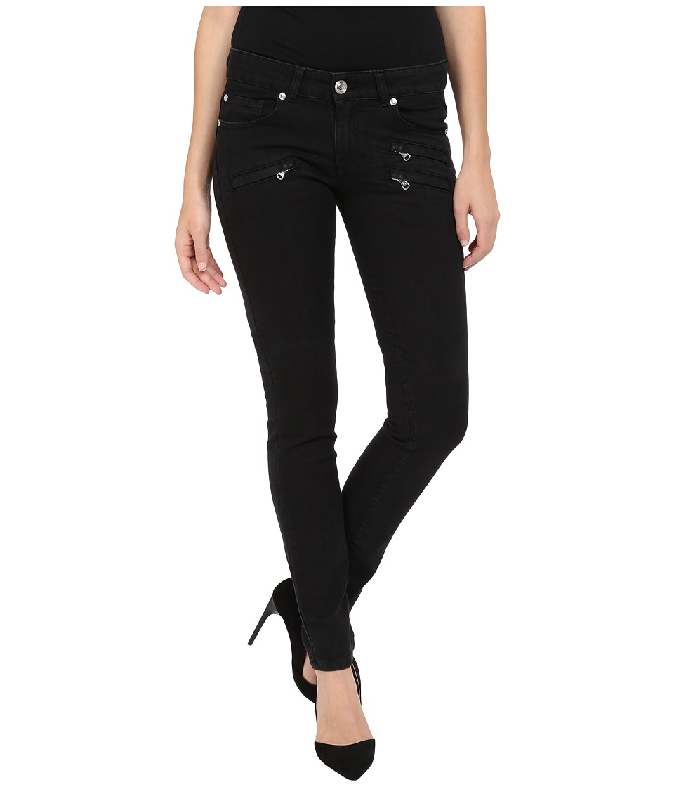 Pierre Balmain Classic Zip Pocket Jeans Black Womens Jeans
