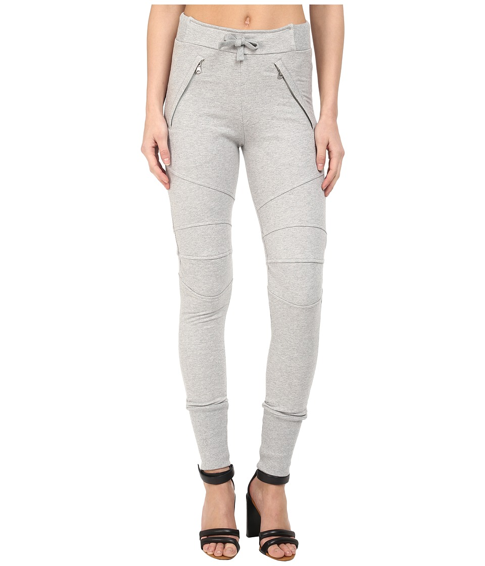 Pierre Balmain Biker Sweatpants Grey Melange Womens Casual Pants