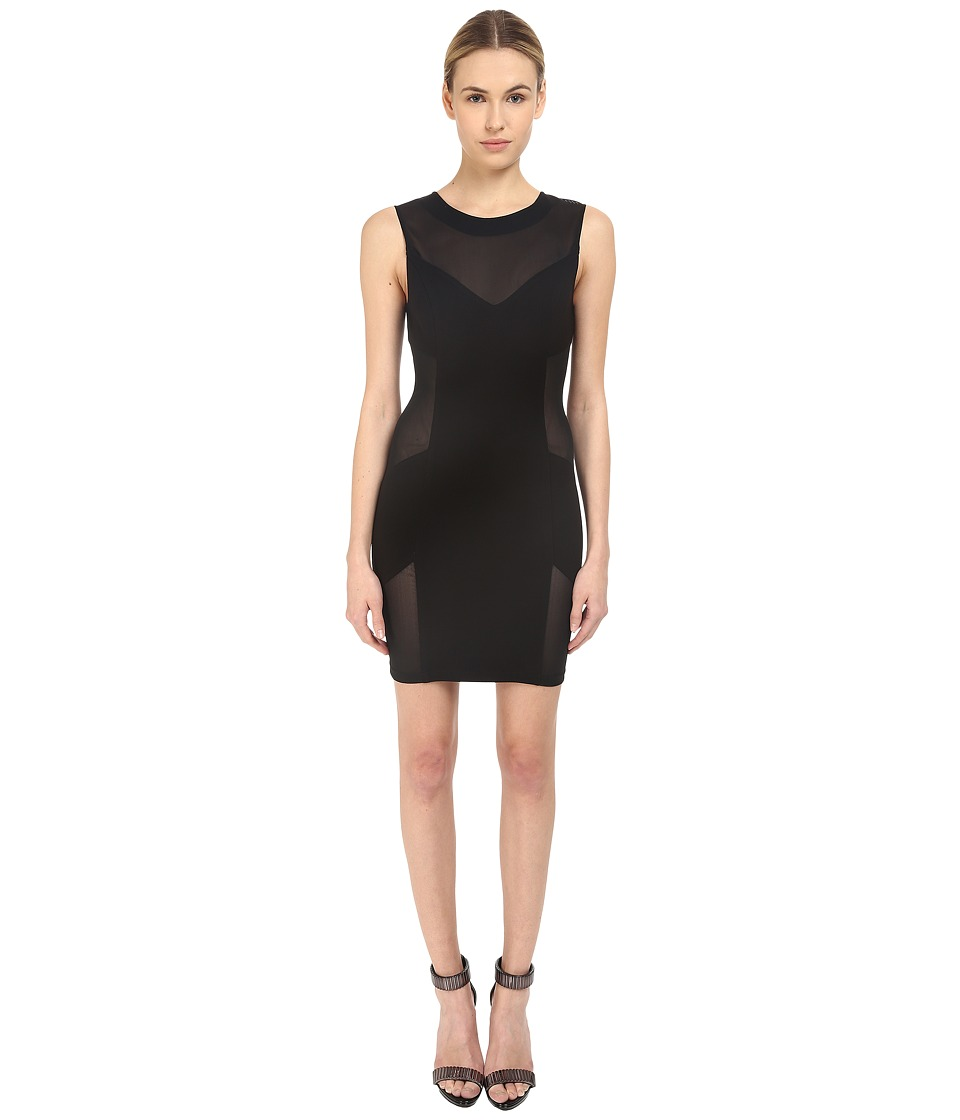 Pierre Balmain Mesh Bodycon Dress Black Womens Dress