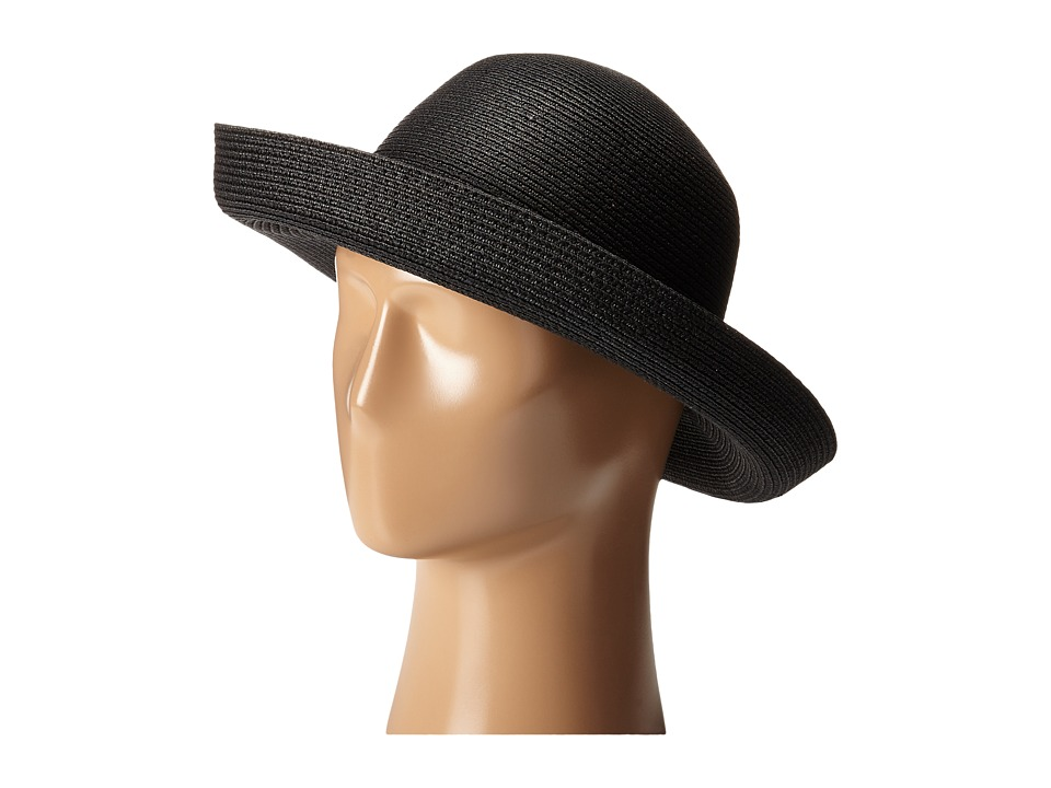 Edwardian Style Hats, Titanic Hats, Derby Hats Betmar - Classic Roll Up Black Caps $35.00 AT vintagedancer.com