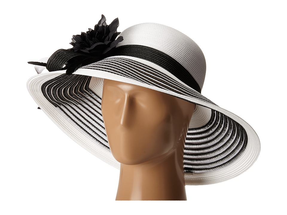 Retro Vintage Style Hats Betmar - Lanna WhiteBlack Caps $52.99 AT vintagedancer.com