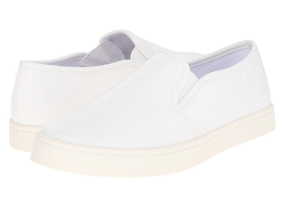 Report Arvey White Snake Womens Shoes