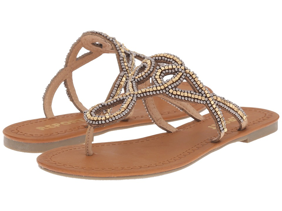 Report Glitz Tan Womens Shoes