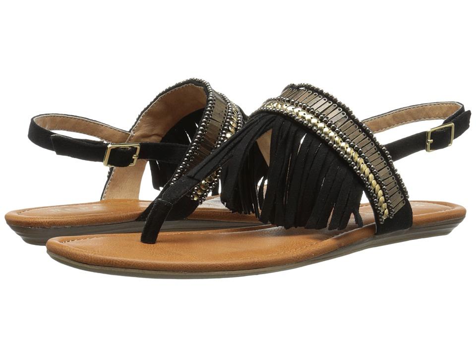 Report Laufer Black Womens Sandals