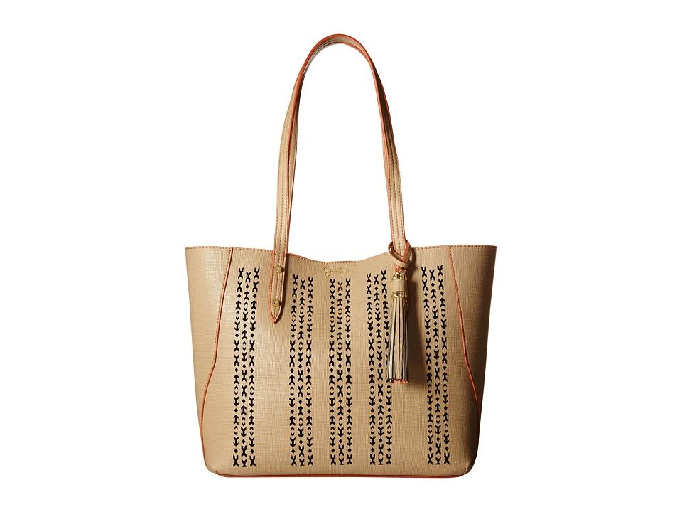 Jessica Simpson Carole Laser Tote Natural Tote Handbags