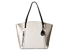 Jessica Simpson Kyle Tote (White/Light Silver/Black)
