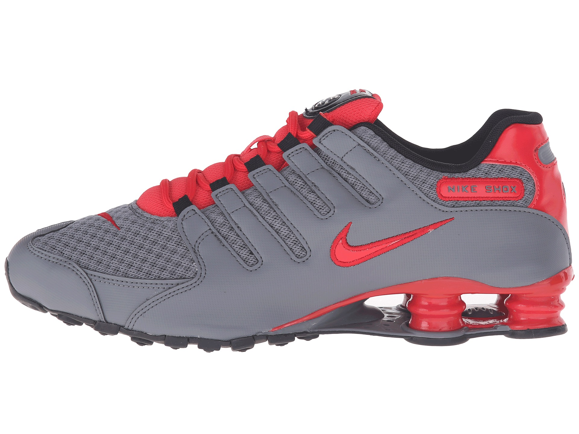 Nike Shox NZ SE Cool Grey/Action Red/Action Red/Black - Zappos.com ...