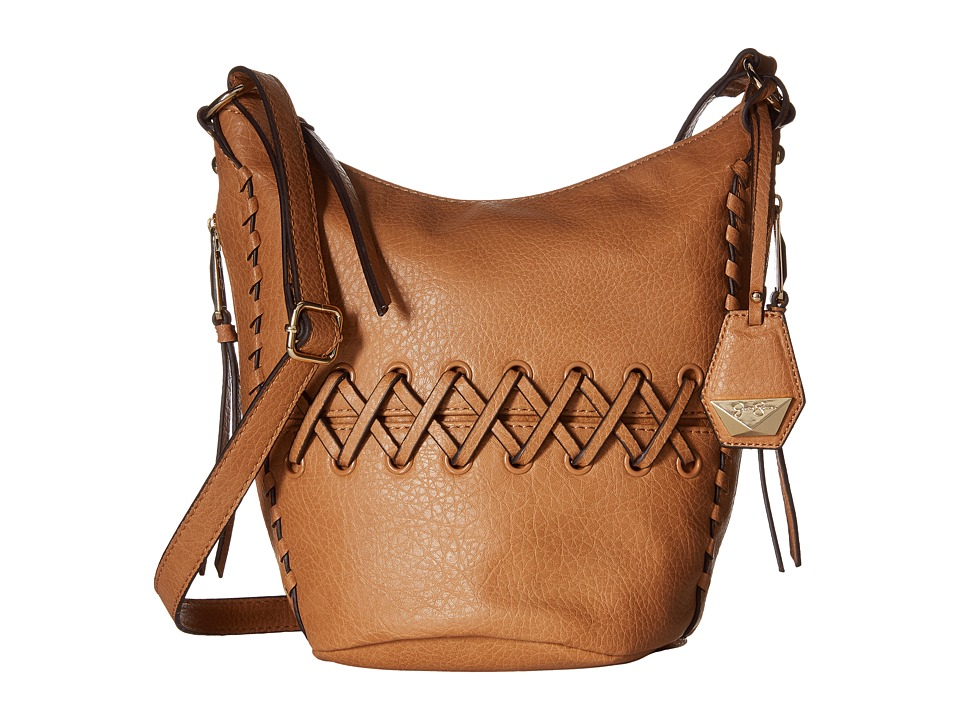 Jessica Simpson - Tyson Crossbody Bucket (Latte) Cross Body Handbags