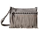 Jessica Simpson Tyra Fringe Crossbody (Metallic Grey)