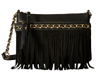 Jessica Simpson Tyra Fringe Crossbody (Black)