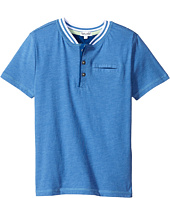 Splendid Littles - Short Sleeve Henley with Pocket (Little Kids/Big Kids)