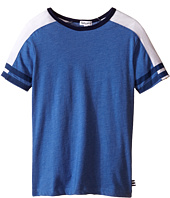 Splendid Littles - Short Sleeve Raglan Crew with Stripe Sleeves (Little Kids/Big Kids)