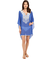 SAHA - Freya Kaftan with Crochet in Front and Tassels Cover-Up