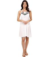 SAHA - Iris Short Dress with Embroised Neckline and Low Backline Cover-Up