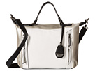 Jessica Simpson Kyle Crossbody Satchel (White/Light Silver/Black)
