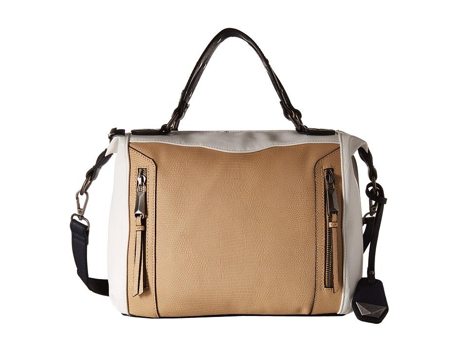 Jessica Simpson - Kyle Crossbody Satchel (Beige/White/Ink) Satchel Handbags