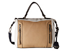 Jessica Simpson Kyle Crossbody Satchel (Beige/White/Ink)
