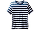 Image of Splendid Littles - Striped Dip Dye Indigo Tee (Little Kids/Big Kids) (Stripe) Boy's T Shirt