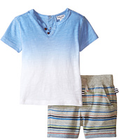 Splendid Littles - Short Sleeve Dip Dye Tee with Multi Stripe Shorts (Infant)