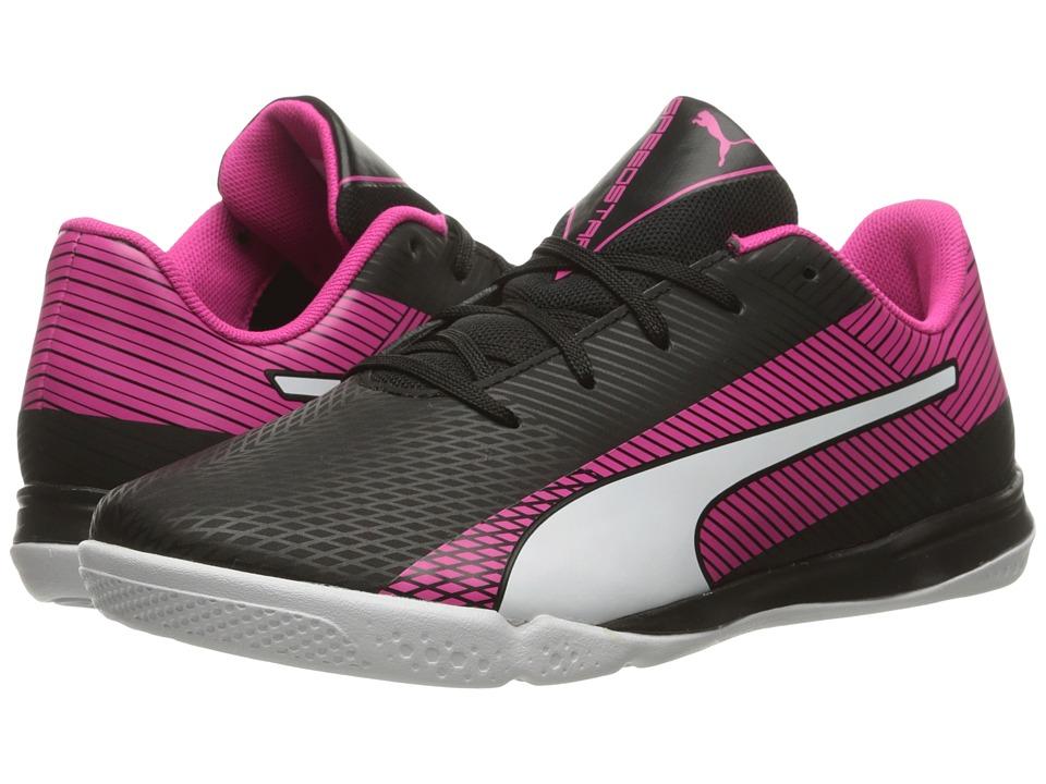 Puma Kids - evoSPEED Star S Jr (Little Kid/Big Kid) (Black/White/Pink Glo) Girls Shoes