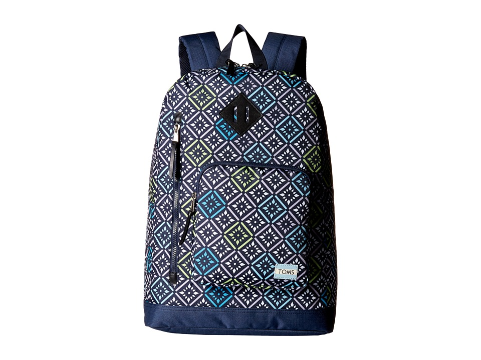 TOMS - Vintage Tile New Backpack (Navy) Backpack Bags plus size,  plus size fashion plus size appare