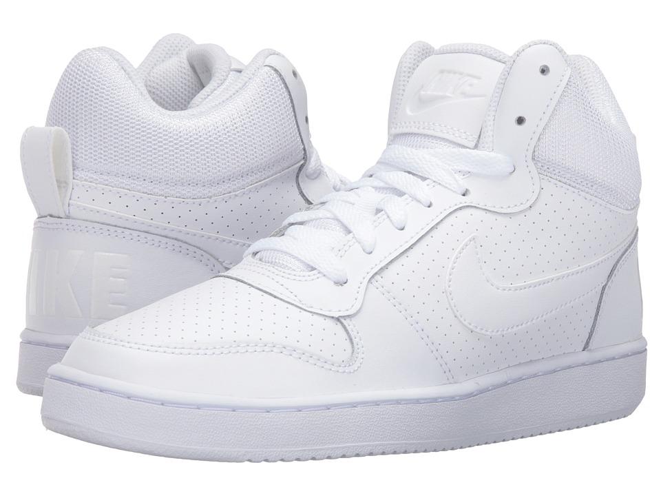 Nike - Recreation Mid (White/White/White) Womens Basketball Shoes