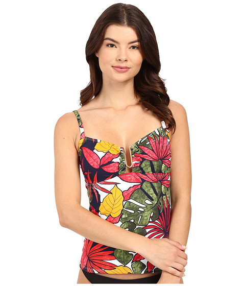 Tommy Bahama - Remy Over Shoulder Cup Tankini (Multicolor) Women's Swimwear