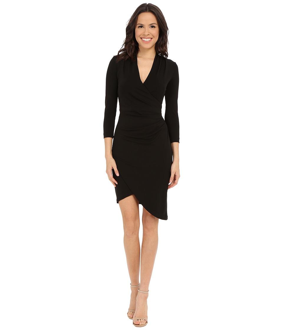Nicole Miller Stefanie Long Sleeve Dress Black Womens Dress