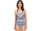 Paisley Engineered Low Back One-Piece