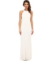 Adrianna Papell - Caviar Bead Sheer Back Gown