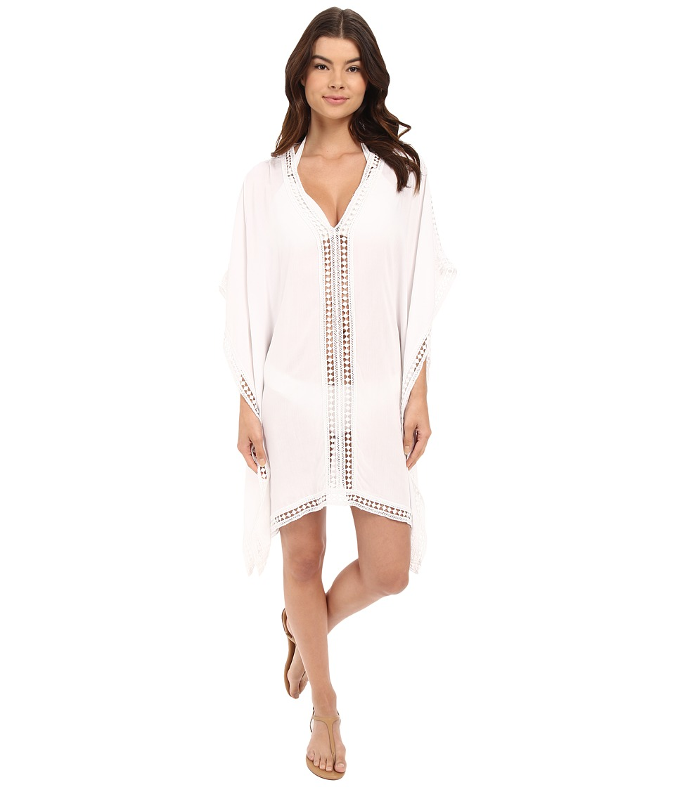 Tommy Bahama Lace Tunic w/ Lace Inset Edge Cover-Up (Whit...