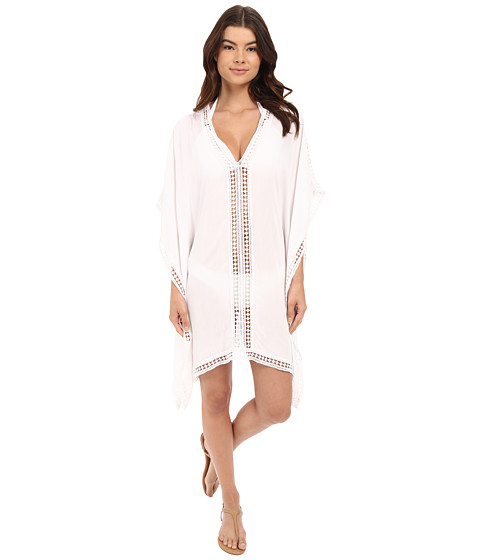 Tommy Bahama Lace Tunic w/ Lace Inset & Edge Cover-Up