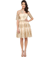 Adrianna Papell - Metallic Corded Lace Party Dress