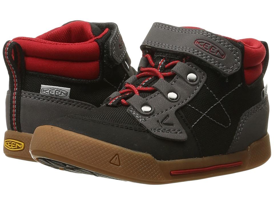 Keen Kids - Encanto Wesley High Top (Toddler/Little Kid) (Black/Tango) Boys Shoes