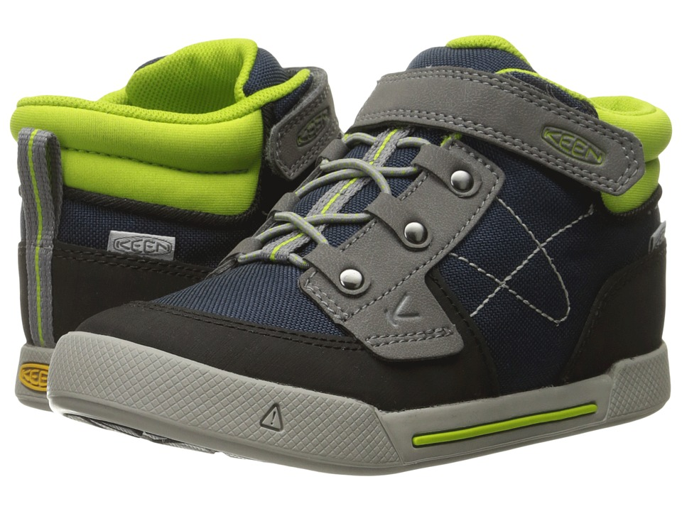 Keen Kids - Encanto Wesley High Top (Toddler/Little Kid) (Dress Blues/Macaw) Boys Shoes