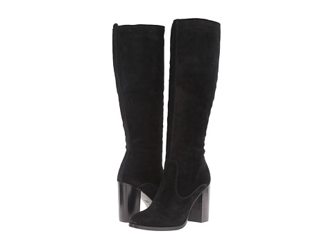 Frye Claude Tall - Black Oiled Suede
