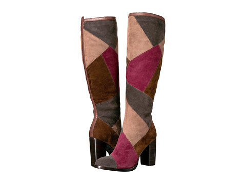 Frye Claude Patchwork Tall - Smoke Multi Suede/Smooth Vintage Pull Up