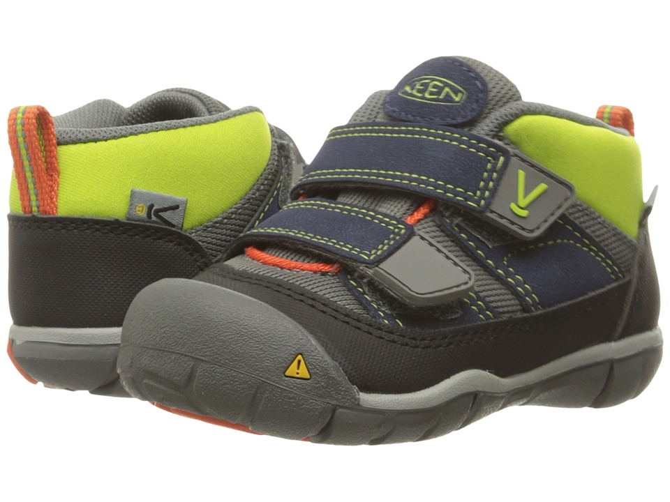 Keen Kids Peek-A-Shoe (Toddler) (Dress Blues/Macaw) Boys Shoes